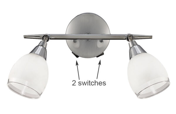 Franklite SPOT8962 Lutina 2 light switched wall spot light polished chrome