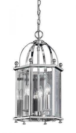 Franklite Madison Georgian 3 Light Hanging Lantern Polished Chrome
