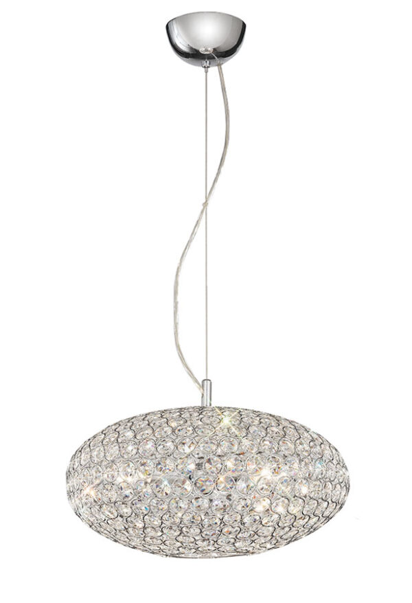 Franklite FL2273/3 Marquesa 3 light ceiling pendant in polished chrome with crystal buttons