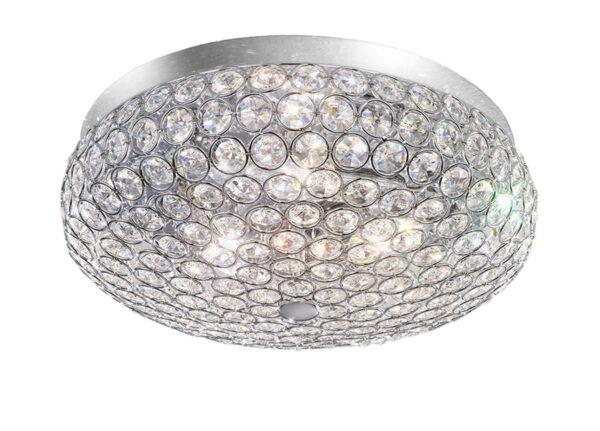 Franklite FL2275/3 Marquesa 3 light flush mount ceiling lamp polished chrome crystal