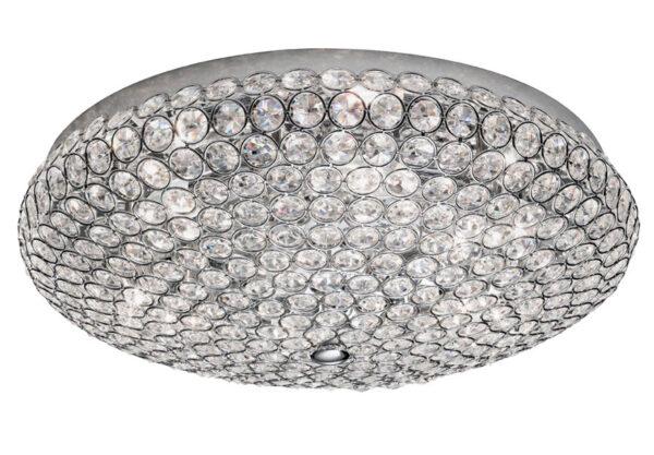 Franklite FL2275/6 Marquesa 6 light flush mount ceiling lamp polished chrome crystal