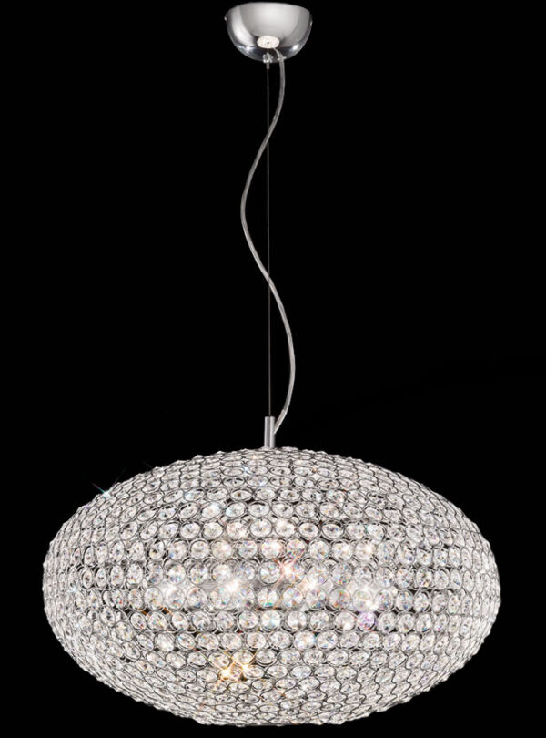 Franklite FL2273/8 Marquesa 8 light ceiling pendant in polished chrome with crystal buttons