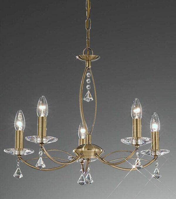 Franklite FL2228/5 Monaco 5 light dual mount chandelier in bronze finish