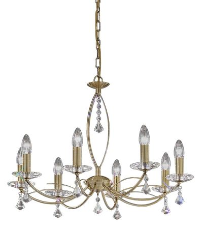 Franklite Monaco 8 Light Dual Mount Chandelier Bronze Crystal