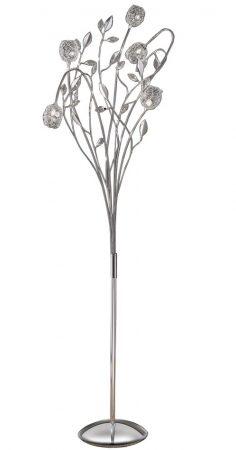 Franklite Nebula 5 Light Dimmer Floor Lamp Standard Chrome Crystal