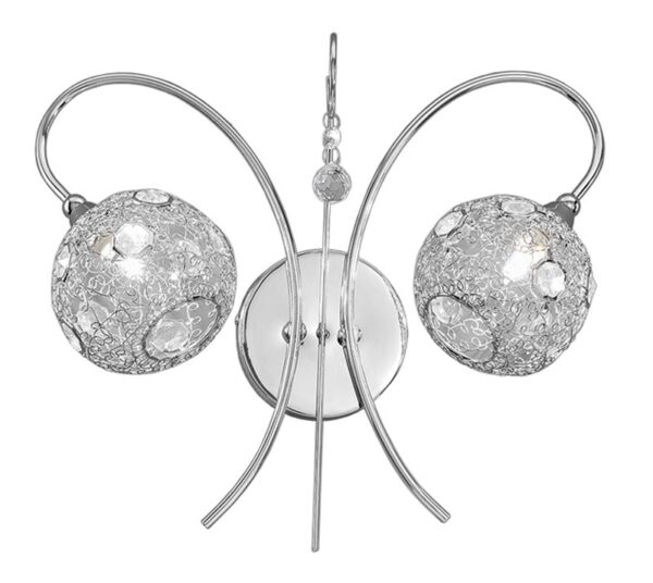 Franklite FL2214/2 Orion 2 light twin wall light in polished chrome