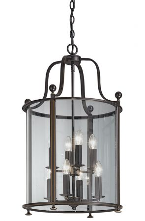 Franklite Pasillo Large 8 Light Antique Bronze Hanging Lantern