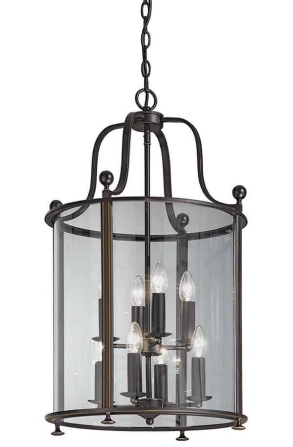 Franklite LA7001/8 Pasillo large 8 light antique bronze hanging lantern