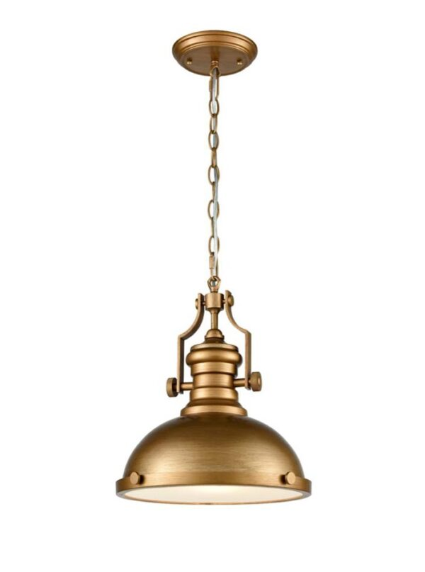 Industrial Style Single Metal Chain Pendant Ceiling Light Antique Gold