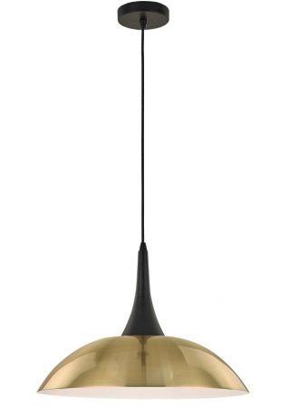 Franklite Perfora Large Brushed Gold Metal Pendant Ceiling Light Black