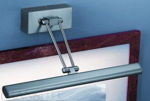 Franklite Modern Satin Nickel 365mm Adjustable Picture Light