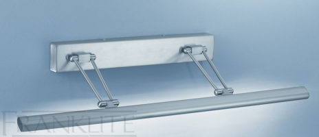 Franklite Modern Satin Nickel 63cm Adjustable Picture Light