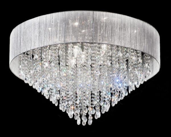 Franklite FL2281/10 Royale 10 lamp large flush mount crystal ceiling light