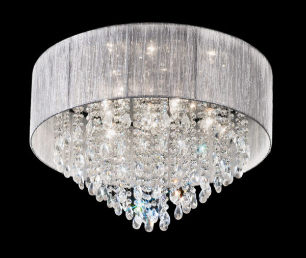 Franklite FL2281/7 Royale 7 lamp medium flush mount crystal ceiling light