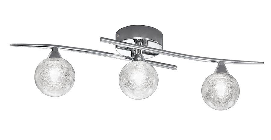 Franklite FL2297/3 Shardice 3 light flush mount ceiling light in polished chrome