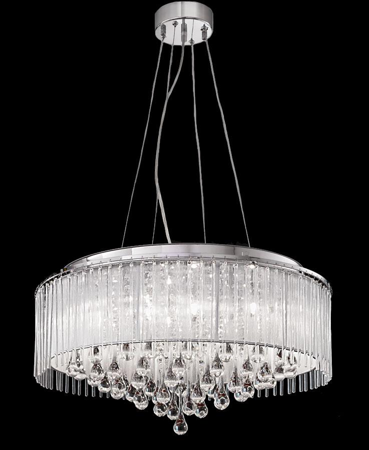 Franklite FL2161/8 Spirit 8 light ceiling pendant in polished chrome main image