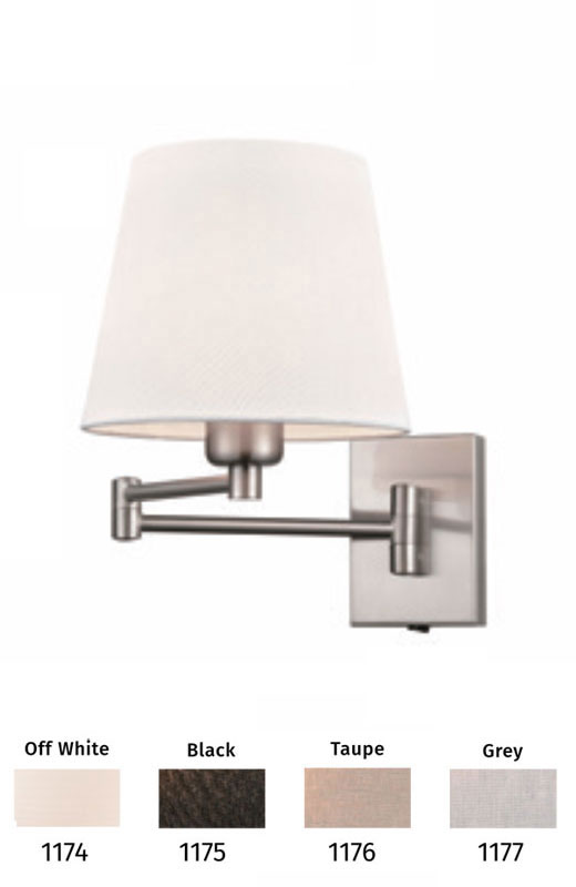Switched Dual Hinged Swing Arm Wall, Swing Arm Wall Lamp Uk