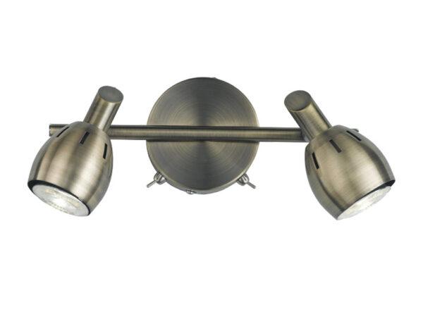 Quality Adjustable 2 Lamp Switched Stylish Wall Spot Light Bronze Finish