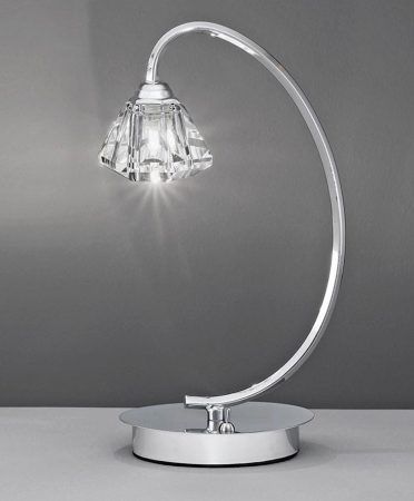 Franklite Twista Single Light Table Lamp Polished Chrome Crystal Glass