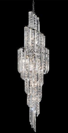 Franklite Valentina Large 11 Light Spiral Crystal Chandelier
