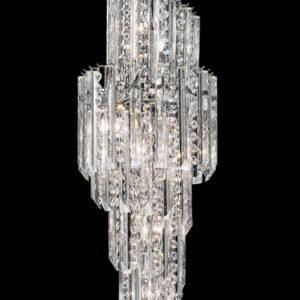 Franklite FL2264/11 Valentina large 11 light spiral Italian crystal chandelier