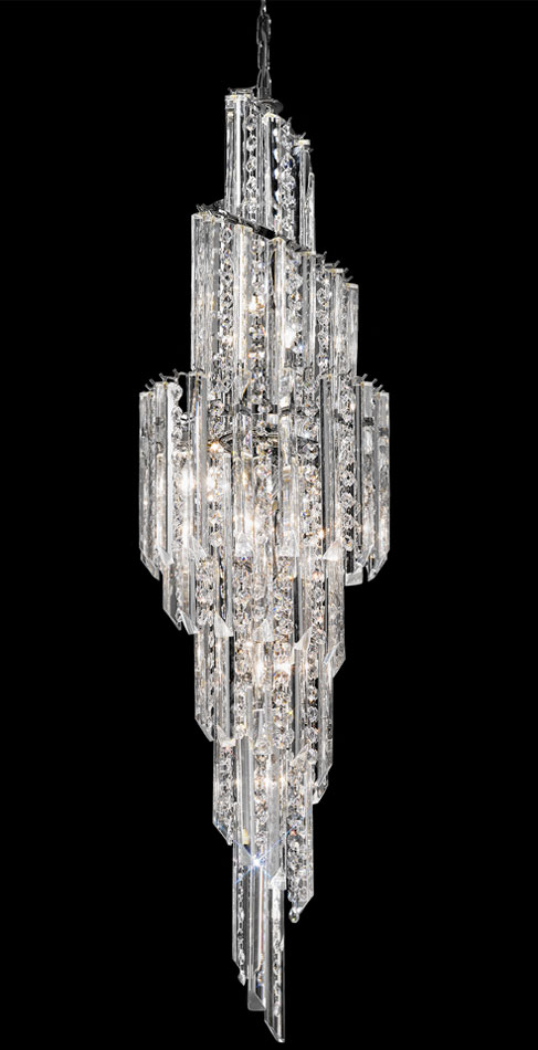Franklite FL2264/11 Valentina large 11 light spiral Italian crystal chandelier