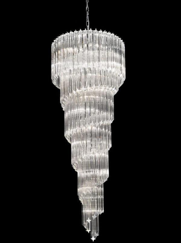 Franklite FL2265/13 Valentina very large 13 light spiral Italian crystal chandelier