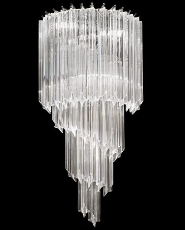 Franklite Valentina Large 3 Light Crystal Spiral Wall Light