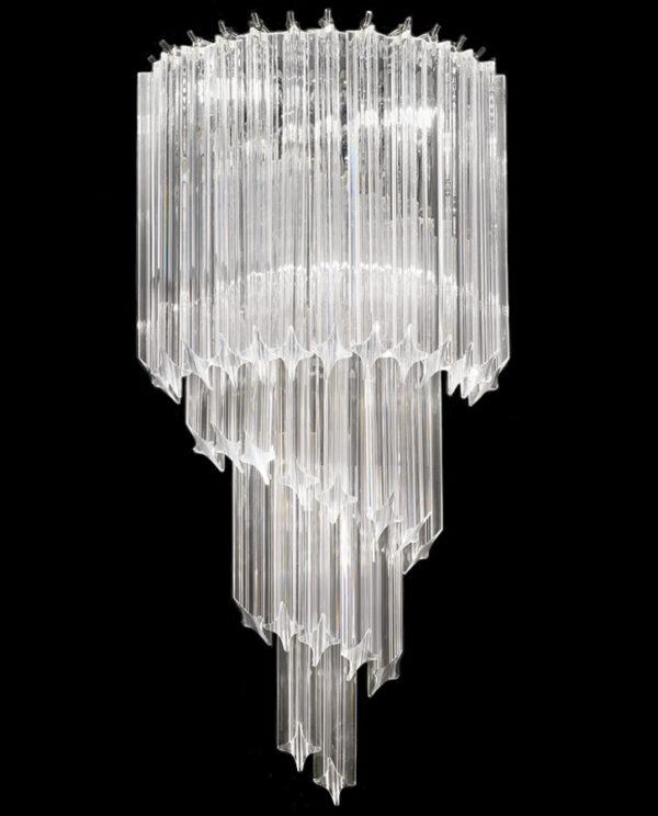 Franklite FL2266/3 Valentina large 3 light crystal spiral wall light