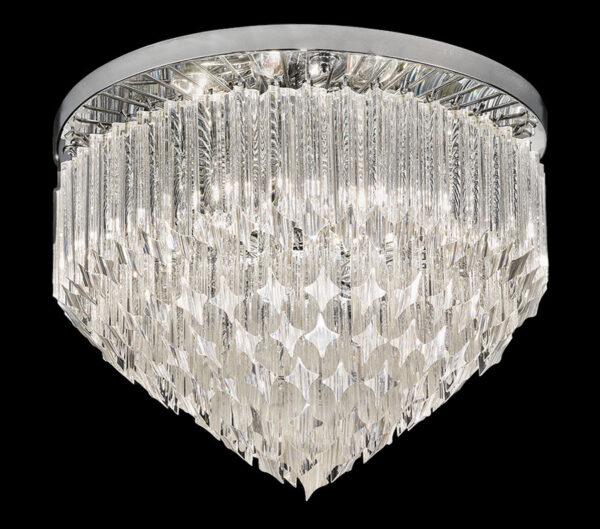 Franklite Valentina 6 Lamp Flush Mount Crystal Ceiling Light