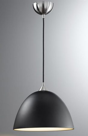 Franklite Vetross Large Black / Gold Glass Pendant Ceiling Light Satin Nickel