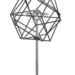 Franklite Vinci 3 light dimmer table lamp in polished chrome & antique metalwork