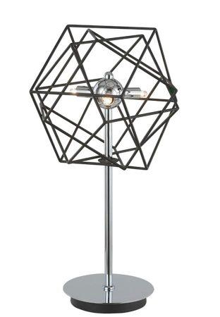 Franklite Vinci Chrome 3 Light Dimmer Table Lamp Antique Metalwork
