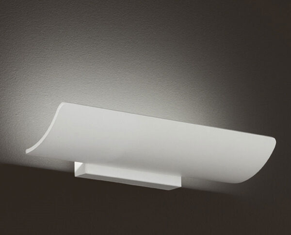 Contemporary 12w LED Small Wall Up Light Trough White Metal