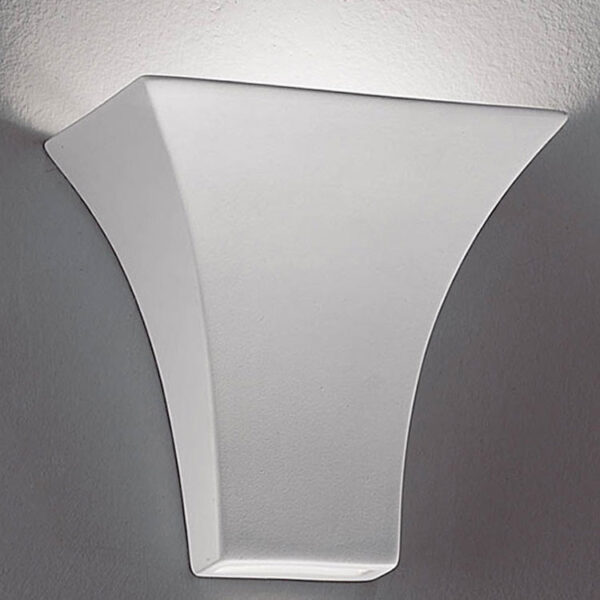 Classic Compact Paintable Ceramic 1 Lamp Up & Down Wall Washer Light