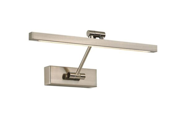 Modern 38cm Square Section 8w LED Adjustable Picture Light Satin Nickel