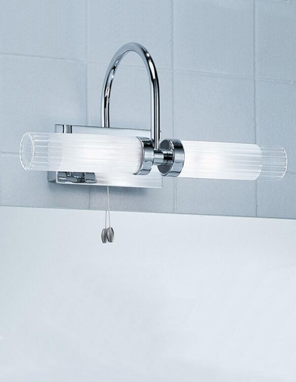 Quality Switched 2 Lamp Bathroom Over Mirror Light Chrome IP44
