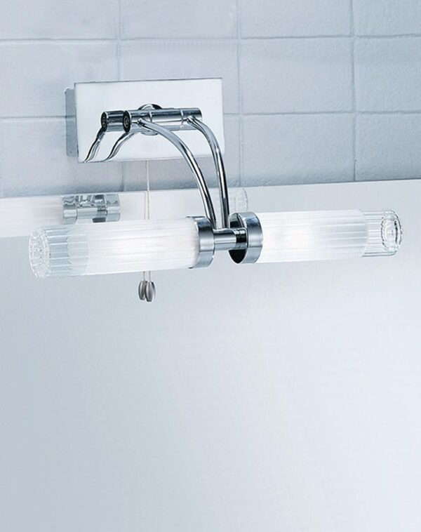 Quality Switched 2 Lamp Adjustable Bathroom Over Mirror Light Chrome