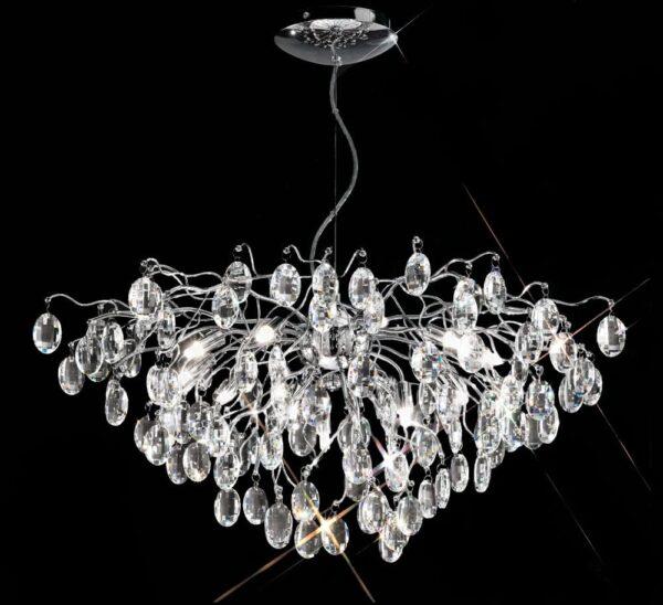 Franklite FL2326/13 Wisteria 13 lamp crystal chandelier pendant in polished chrome