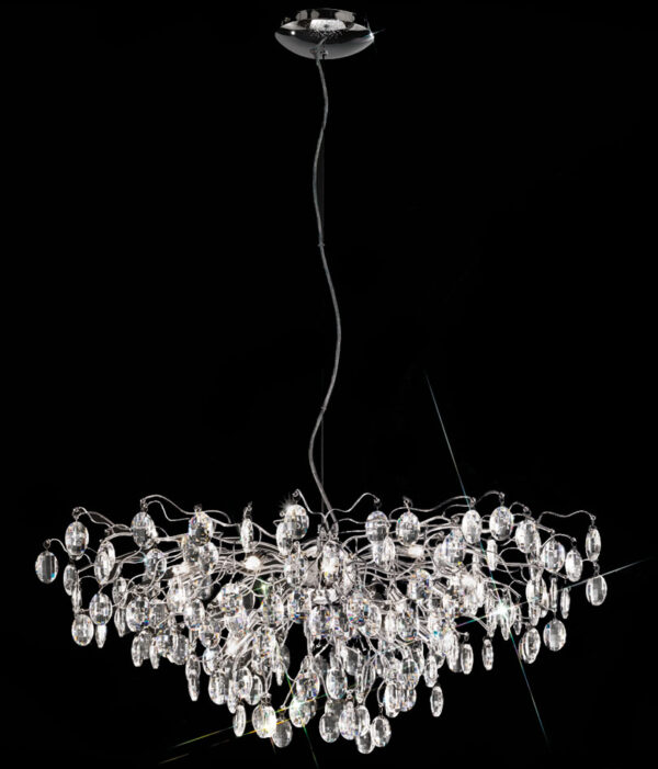 Franklite FL2326/15 Wisteria 15 lamp crystal chandelier pendant in polished chrome