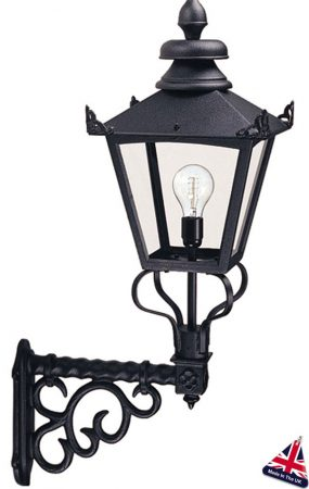 Elstead Grampian Traditional Victorian Large Outdoor Wall Lantern Black