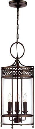 Elstead Guildhall Dark Bronze 3 Light Georgian Hall Lantern