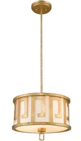 Gilded Nola Lemuria 2 Light Duo Mount Medium Pendant Distressed Gold