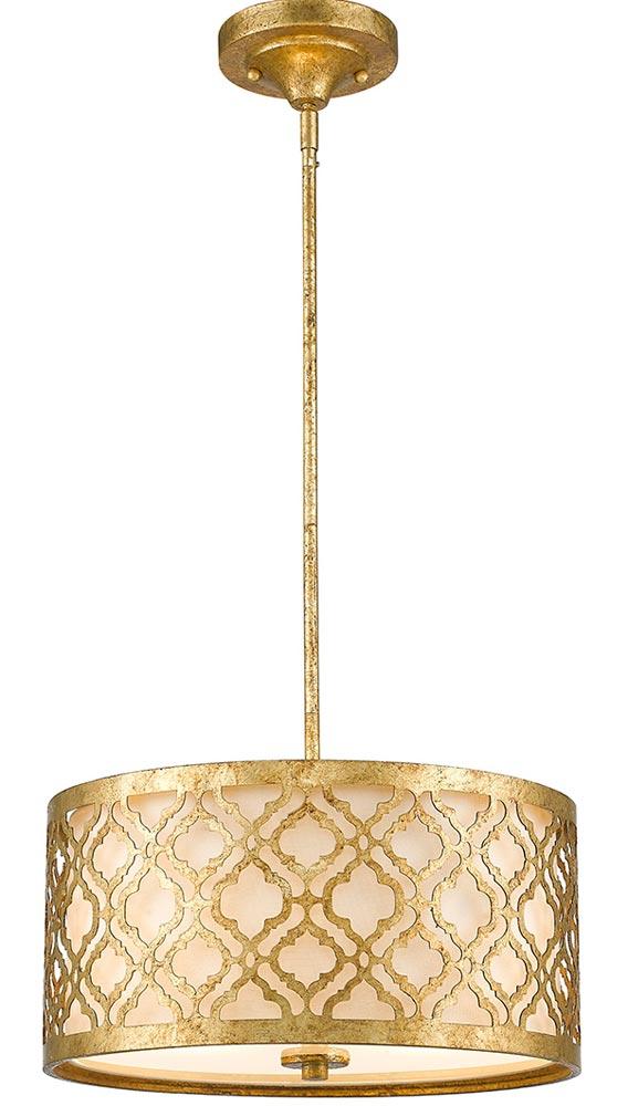 Gilded Nola Arabella 2 Light Duo Mount Medium Pendant Distressed Gold
