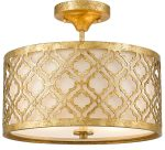 Gilded Nola Arabella 2 Light Duo Mount Medium Pendant Distressed Gold