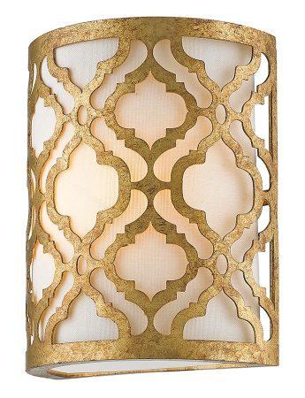 Gilded Nola Arabella 1 Light Flush Mount Wall Light Distressed Gold