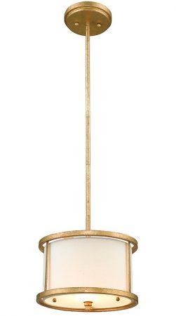 Gilded Nola Lemuria 1 Light Duo Mount Mini Pendant Distressed Gold