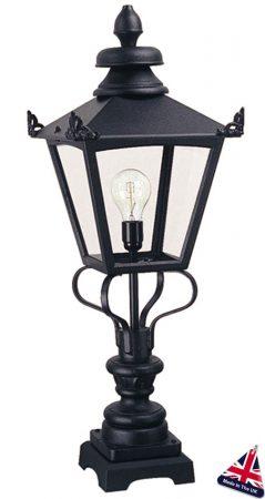 Elstead Grampian Traditional Victorian Outdoor Pedestal Lantern Black
