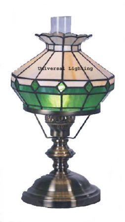 Green Tiffany Imitation Table Oil Lamp