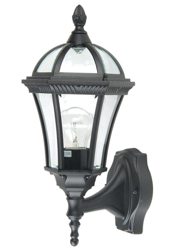 Ledbury 1 light traditional outdoor wall lantern black
